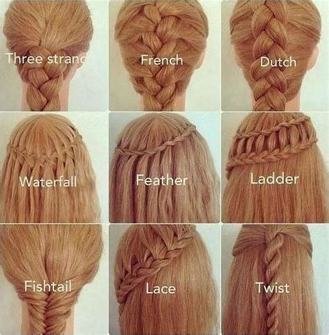 All Kinds Of Hair Style That Have Braides | the many types of braids