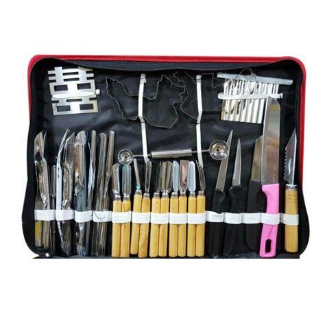 Pisau Knife 80 Vegetable Fruit Carving Tools Set 80pcs set multifunction watermelon fruit carving tools kit