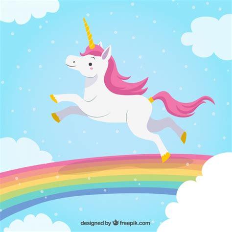 imagenes de unicornios y arcoiris fondo de unicornio saltando en el arcoiris descargar