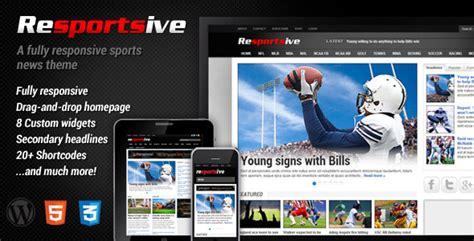 themes wordpress free sport resportsive responsive sports news theme by mvpthemes