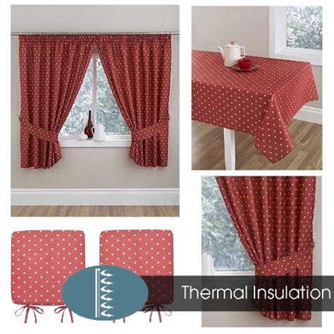 polka dot kitchen curtains terracotta polka dot thermal kitchen curtains the mill