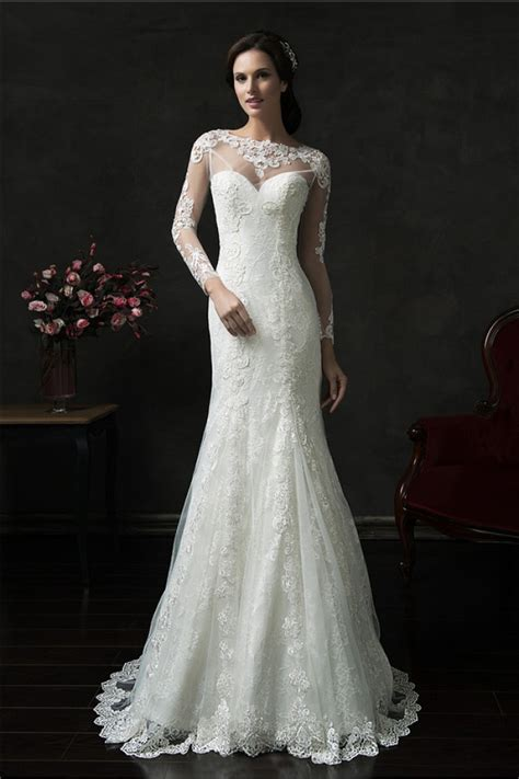 two in one mermaid sleeve tulle lace two in one wedding