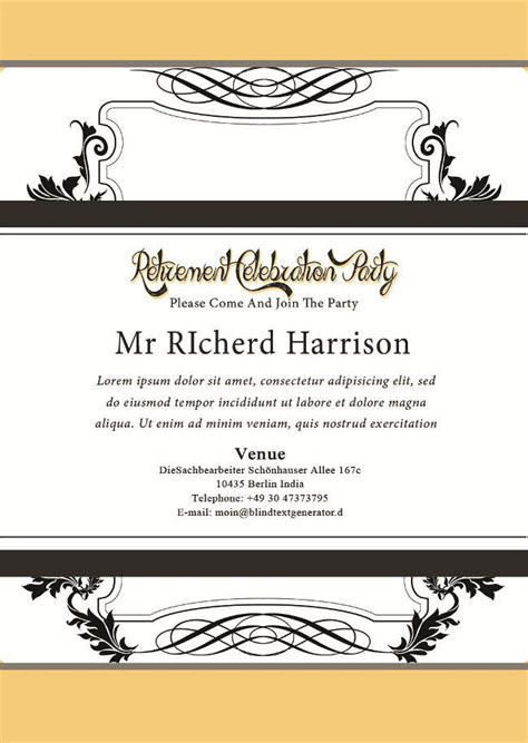 Retirement Party Flyer Templates Demplates Microsoft Powerpoint Templates Retirement