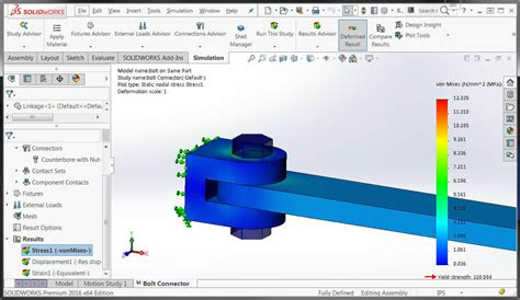 solidworks pattern of bodies solidworks simulation 2016 bolts and pins on same body