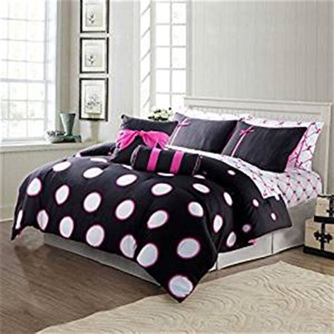 black and white polka dot comforter com teen girl comforter sets hot pink black and