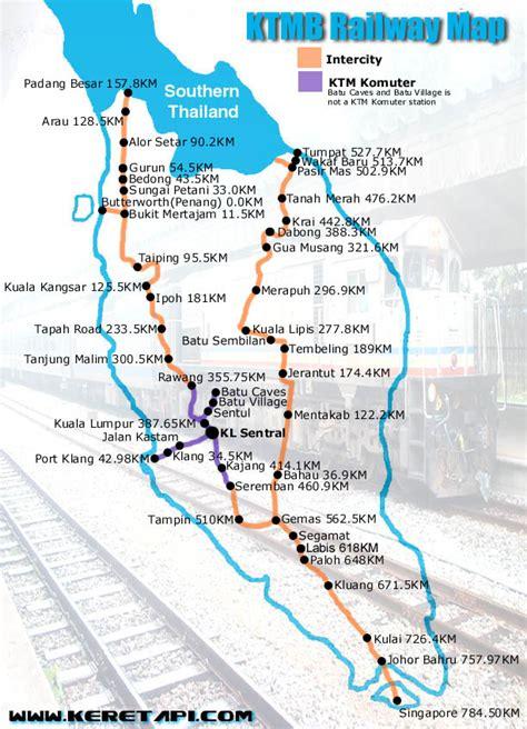 Ktm Malaysia Map Transport Ktmb Railway Map