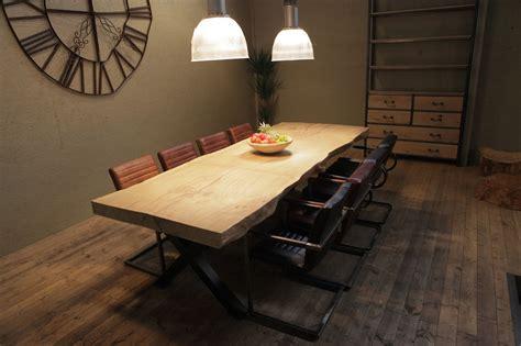 woonideeen tafel oak steel tafels boomstamtafel uit 1 stuk xl home