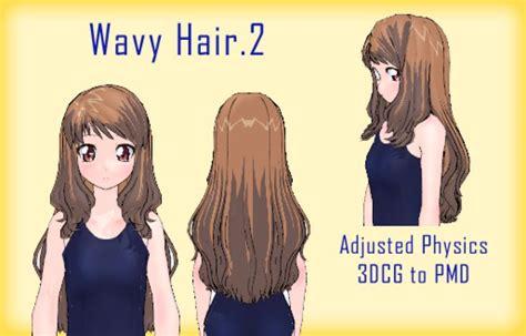 wavy hair ol by alexisunderwoodarts on deviantart 29 best images about mmd download hair on pinterest