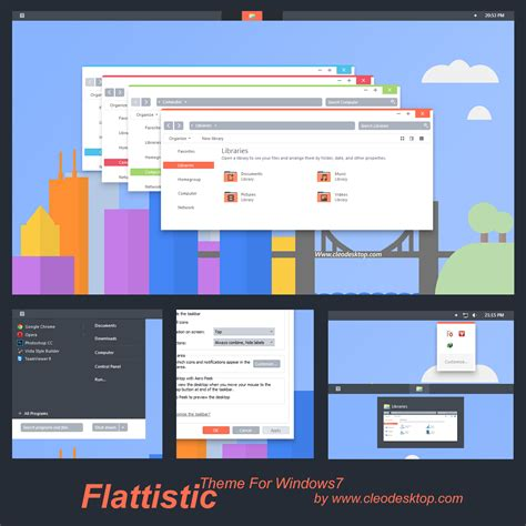 themes for windows 7 deviantart flattastic theme for windows 7 by cleodesktop on deviantart