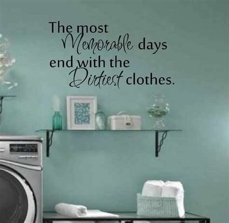 Laundry Room Wall Decor Laundry Room Decor Wall Matt Vinyl Decal Laundry