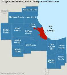 Chicago Metro Area Map by Maps World Business Chicago Economic Growth And Jobs