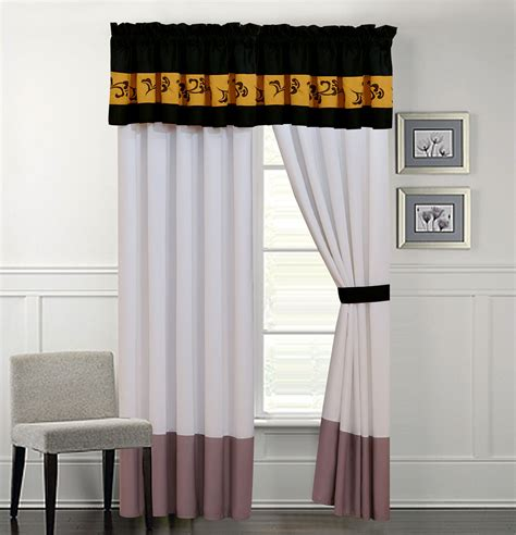 grey and ivory curtains karmen gray and ivory curtain set