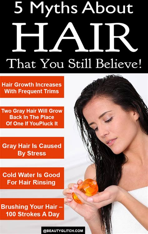 5 Hair Care Myths Did You That by 5 Myths About Hair That You Still Believe Glitch