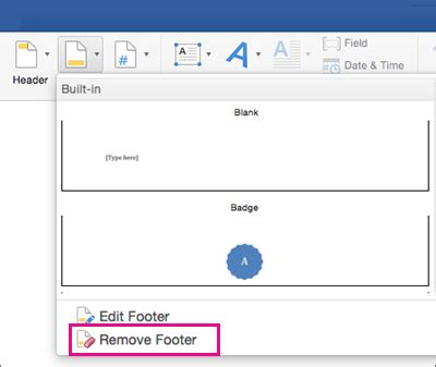 remove footer sections remove all headers or footers in word 2016 for mac word