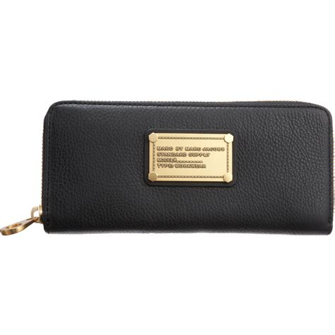 Marc By Marc marc by marc classic q slim zip wallet in black lyst