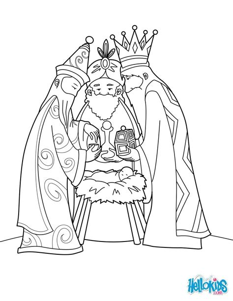 the three wise men and baby jesus coloring pages