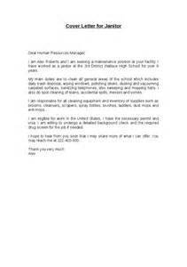 Janitor Cover Letter application letter sle cover letter sle janitor