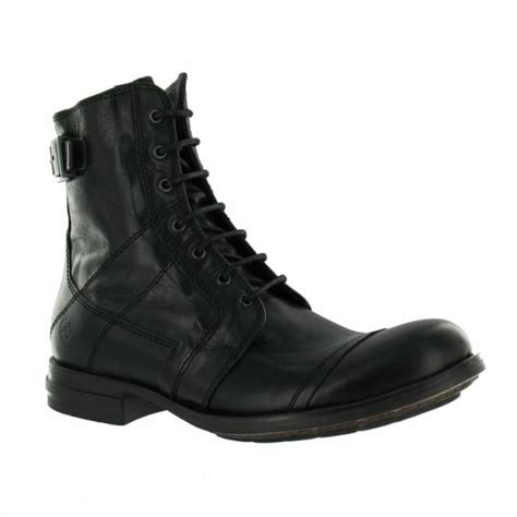 bronx mens boots bronx 43372 b mens leather boots black casual boots
