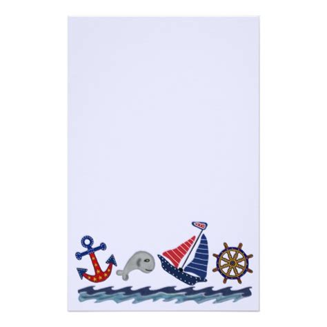 nautical stationery template nautical pattern stationery zazzle