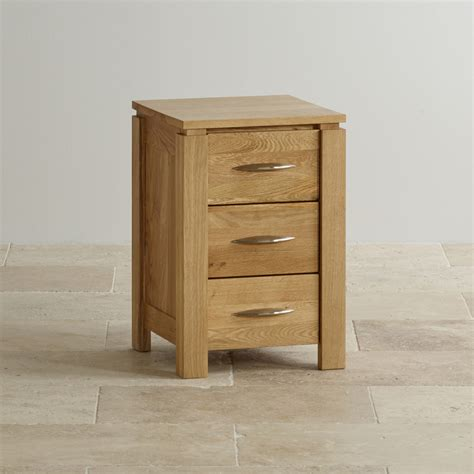 Galway 3 Drawer Bedside Table In Solid Oak