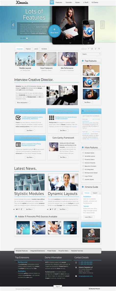 Template Joomla Ximenia   ximenia responsive joomla template for corporate type websites