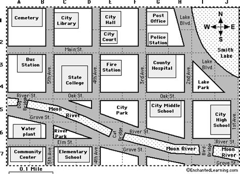 map activity city map reading activity printout 1 enchantedlearning