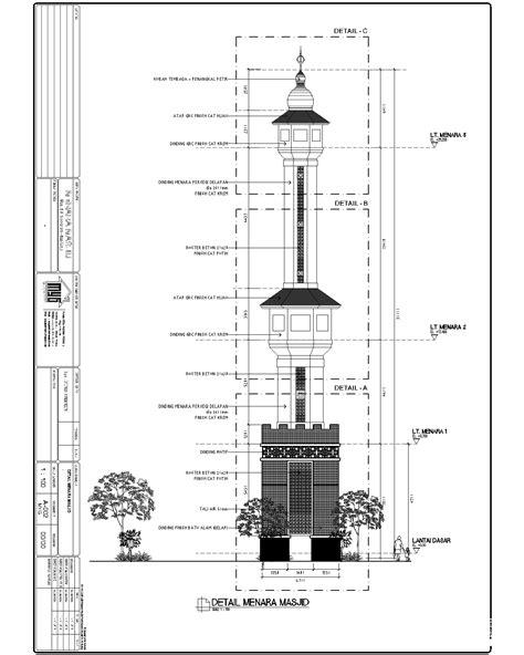 gambar desain menara masjid maygunrifanto menara masjid almukkaram desa sunju palu