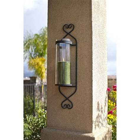 Iron Candle Wall Sconce Iron Glass Cylinder Wall Sconce Candle Holder By Danya B Products Sconces And Glasses