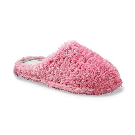 pink dearfoam slippers dearfoams s clog style pink slipper