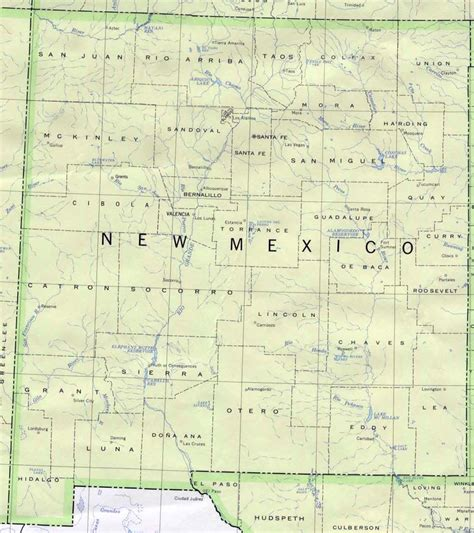 new mexico and texas map mapa nuevo mexico