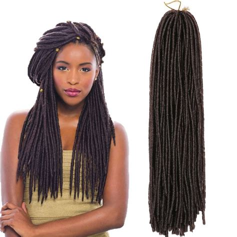 how to soften cuban twist hair 15 quot soft faux locs twist goddess crochet braids dreadlocks