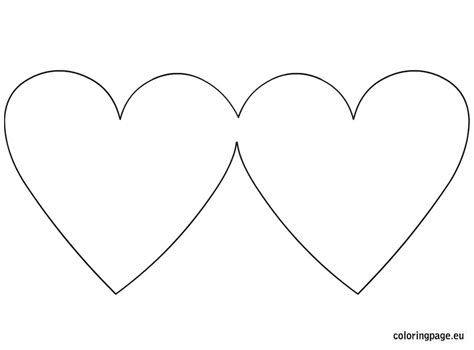 heart shaped greeting card blank coloring