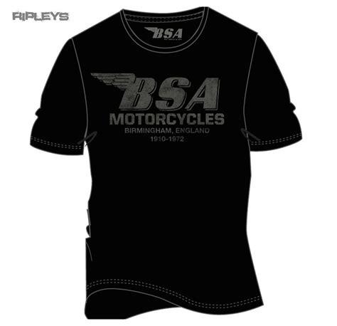 official t shirt bsa motorbike black birmingham