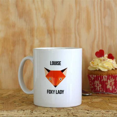 Mug Foxy by Personalised Foxy Mug By Jollysmith Notonthehighstreet