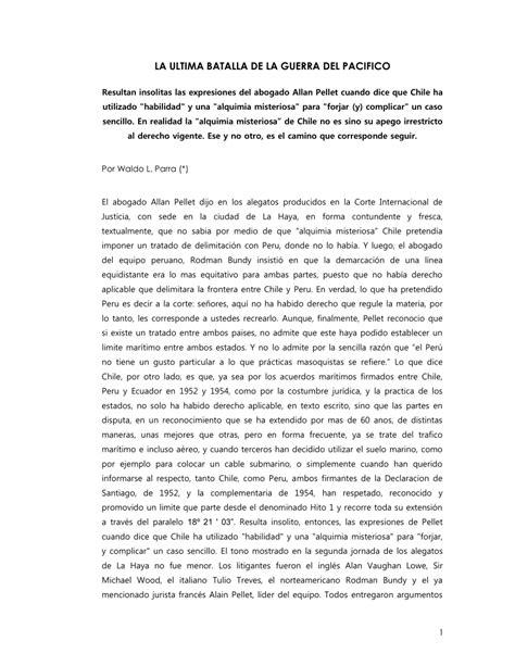 """(PDF) """"La ultima batalla de la Guerra del Pacifico""""."""
