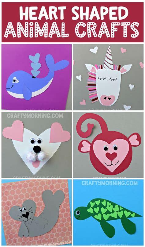printable valentine animal crafts make some heart shaped animal crafts for valentine s day