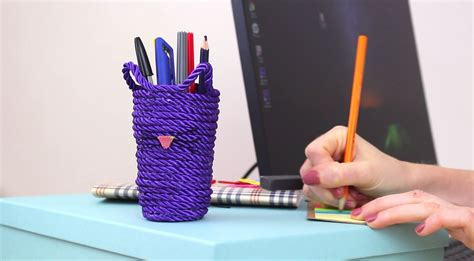custom kitty rope pencil holder home decorating
