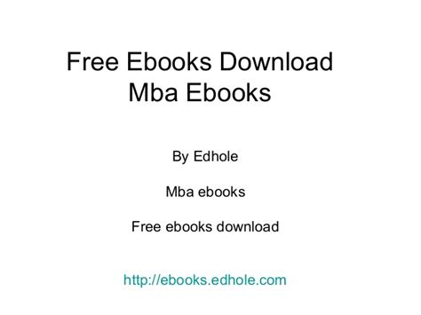 Free Mba Textbooks Downloads by Free Ebooks Edhole