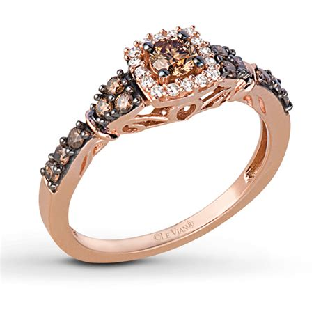 le vian chocolate diamonds 1 2 ct tw ring 14k strawberry gold 22894606 sterlingjewelers