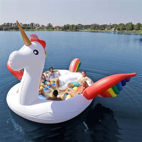 big unicorn boat you obviously need a boat sized rainbow unicorn pool float