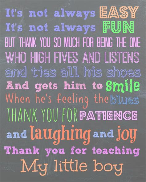 printable thank you quotes free printable for a teacher quot to my son s teachers thank