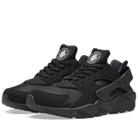 all black sneakers mens 318429 003 nike air huarache all black running