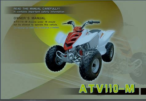 Crossrunner Atv110 M 110cc Chinese Atv Owners Manual Om