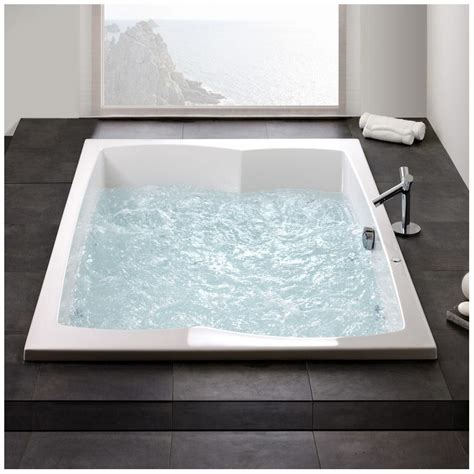 dusche in badewanne 553 hoesch largo rechteck whirlpool 200 x 140 cm mit reviva ii