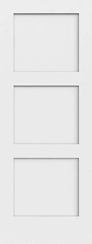 3 Panel Shaker Interior Door Discount 6 8 Quot 3 Panel Shaker Primed Interior Wood Door Slab