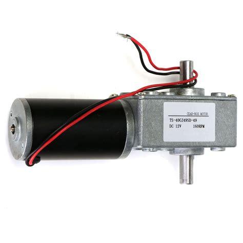 Box Motor 12v 160rpm Dc Motor Reduction Motor Worm Gear Shaft
