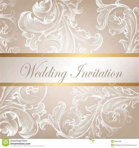invitation card design vector wedding vector invitation card with swirl element stock