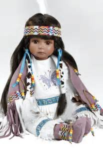 Native american indian doll aponi stands 19 inches in porcelain