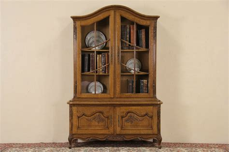 antique french country china cabinet sold country french oak 1920 antique bookcase or china