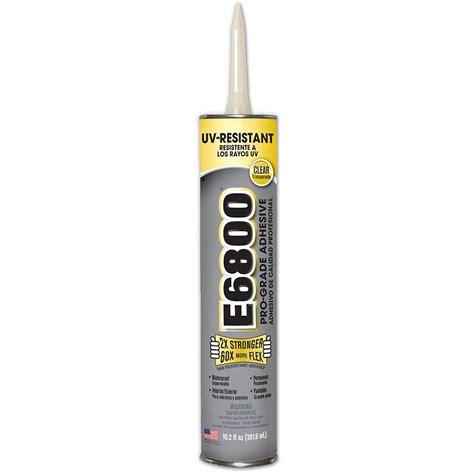 e6800 10 2 fl oz uv resistant cartridge adhesive 12
